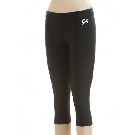 Black brushed tricot capri pants E2071