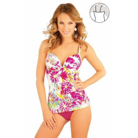 Tankini top with cups