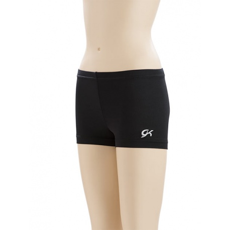 Black nylon/spandex mini workout shorts 1449