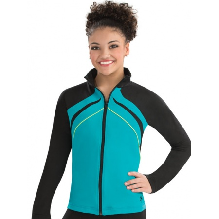 Side profile fitted warm-up jacket 8777