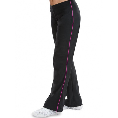 Side trim fitted warm-up pants 8765