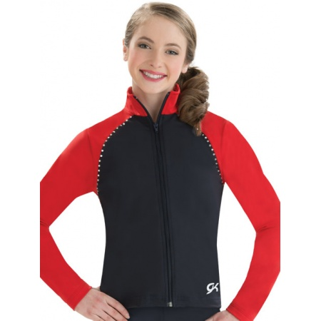 Two toned fitted warm-up jacket 8766