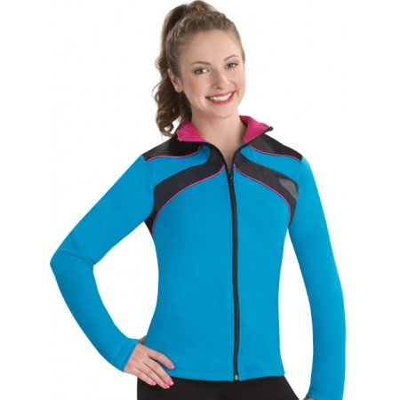 Ribbon topped warm-up jacket 8793
