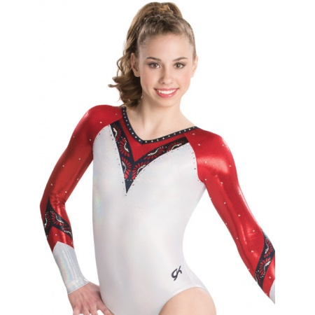 Laser cut lace competitive leotard 7599