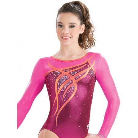 Ribbon and curls gymnastics leotard 9601