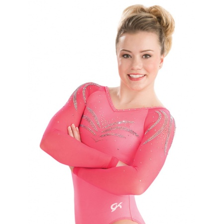 V-neck raglan competition leotard 4882