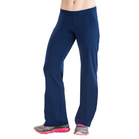 Low rise fitted warm-up pants 8731