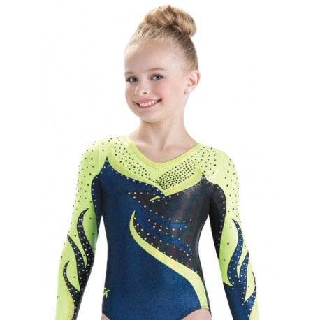 Twisted Flame Long Sleeve  leotard 9619