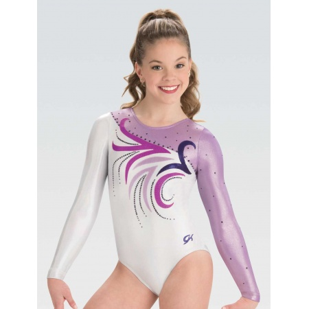 Abstract floral competition leotard 7567