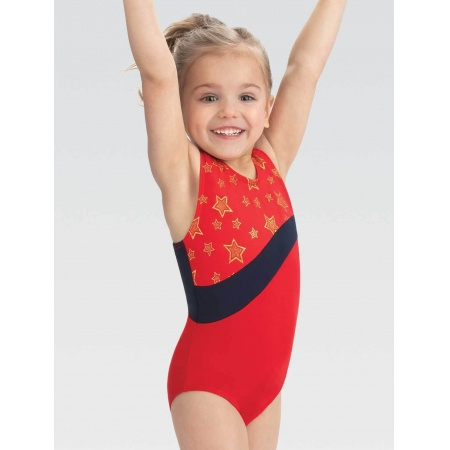 E3942 - Gkids Gold Star Parade T-back Leotard