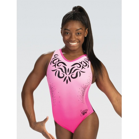 Simone Biles Pink Perfection T-Back Leo - size CL