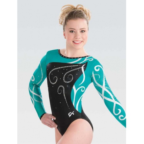 Wrapping petal competitive leotard