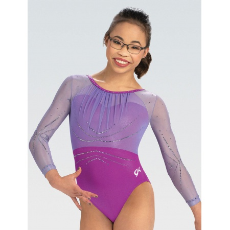 Beaming Light Ruched Competition Leotard
